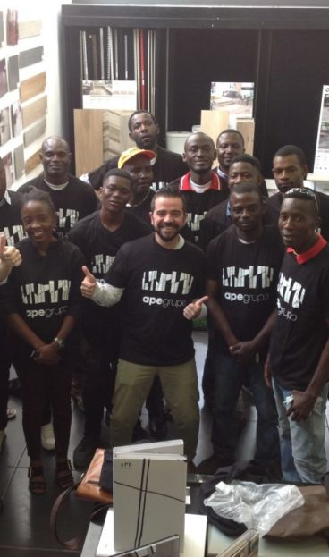 APE ha formado a alicatadores en el Congo